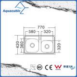 Boven de TegenGootsteen van de Keuken van Moduled van het Roestvrij staal (acs-7742)