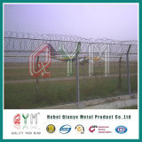 Колючая проволока верхней части загородки звена цепи/загородка авиапорта сетки звена цепи