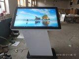 Fußboden, der 55 Zoll LCD-Bildschirm-interaktiven Bildschirm allen in einem Kiosk steht