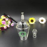 Tubulações de água de vidro das plataformas petrolíferas de vidro do copo de Starbuck mini para a tubulação de vidro