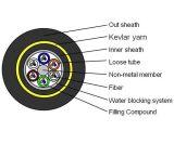 Todo el cable óptico autosuficiente dieléctrico (ADSS)