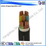 Zr-Yjv0.6/1kv 4 x 120 + 1 x 70/LV/cavo elettrico/ignifugo
