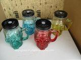 Schädel-Form GlasMoson Glas für trinkendes Cup oder Becher mit Schutzkappe