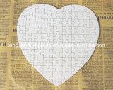 Forme de coeur blanc perle Puzzle de papier