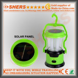Портативный солнечный свет 8 СИД с 1W электрофонарем, USB (SH-1972)