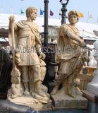 Cinzelando a escultura de mármore de pedra da estátua do soldado para a decoração do jardim (SY-X1311)