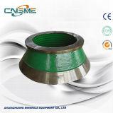 Umhang-und Bogen-Zwischenlage-hohe Mangan-Gussteil-Kegel-Zerkleinerungsmaschine-Ersatzteile für Metso
