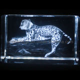 3D Crystal Leopard
