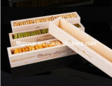 Ясная естественная деревянная коробка упаковки еды коробки чая коробки шоколада