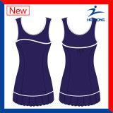 Juegos de señoras Sublimation baratos chaleco de ropa de tenis con falda