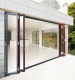 Алюминиевая рама деревянной раздел сдвижной двери запись с боковой двери Lite