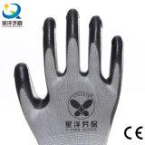 les nitriles d'interpréteur de commandes interactif du polyester 13G ont enduit les gants de travail de sûreté (N6007)