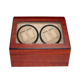 Bobinier automatique de montre de laque mate en bois de 4+6 cerises