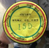 garniture en soie blanche 15D et noire ultra-mince pour le tissu en soie