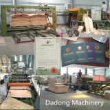 A madeira compensada que faz a máquina retirar o núcleo da articulação do folheado compor a maquinaria