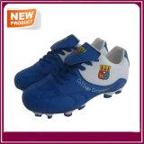 Blaue weiße Farben-im Freienfußball-Schuhe