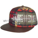 Boné de beisebol liso do bordado da cópia do Snapback de Bill do Twill do algodão (TMFL6345)