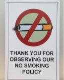 De douane Warniing ondertekent Geen Nummerplaat van het Aluminium van het Verkeer van het Teken van de Plaque van het Metaal van het Parkeren