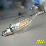 Vela retro de Dimmable dos bulbos do filamento do diodo emissor de luz de Edison das lâmpadas do diodo emissor de luz E14