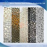 Painel decorativo em alumínio com perfuração de alumínio perfurado com teste Leed