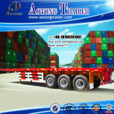 2-3 Radachse 35-50t Container Flat Low Bed Semi Trailer (LAT9300TJZG)