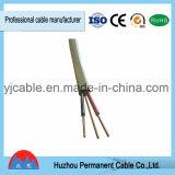Isolation en PVC BVVB+e câble d'alimentation plat pour les bâtiments avec une haute qualité
