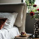 Страны Северной Европы простые ткани из натуральной кожи кровать Домашняя мебель