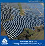 Estruturas de aço galvanizado para suporte de teto do painel solar