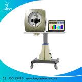 Analisador de pele facial máquina de análise da pele com o software da versão em espanhol e inglês