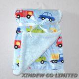 2 слоя Super Soft напечатано короткое замыкание шикарные детское одеяло.