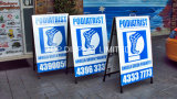 24 X 36 a Cadres en acier et panneaux sandwich Panneaux d'affiches Planche de plomb en plein air Double graphique Portable Publicité Équipement d'affichage Stand Banner