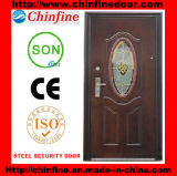 Стальное Security Door с Glass (CF-066)