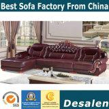 Migliori forniture di ufficio di qualità L sofà del cuoio di figura (A842)