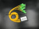 Оптоволоконный Gpon телекоммуникационных 1X16 пластиковые окна PLC разветвителя с разъемом