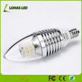E12 7W à intensité réglable LED CMS en aluminium Candle Light ampoule lampe