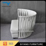 Sala de estar móveis sofá de aço inoxidável com mesa de café