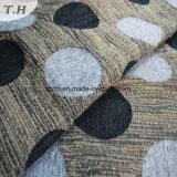 Chenille de teinture de fils de polyesters et tissu de coton