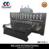 8 cabeças de corte CNC para trabalhar madeira máquina rotativa (VCT-TM2515FR-8H)