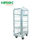 500kg de capacidad de carga logística de almacén Roll encajables Cesta carro