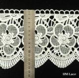 Bordado branco personalizado aparando o laço para a cortina, acessórios Hml041 do vestido de casamento
