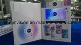 """Tarjeta de visita video de la carpeta del anuncio publicitario del folleto de A4 7 """" LCD"""