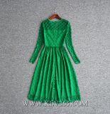 Alineada del vestido de noche del cordón de 2018 la última mujeres