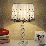 Lampe en cristal de Tableau de chevet transparent économiseur d'énergie de luxe