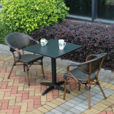 Moderner Freizeit-Möbel-Ausgangshotel-Büro-Aluminiumweidenaufenthaltsraum-flaches Rattan-Sofa (J835)