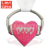 Medalla en forma de corazón de encargo del Keyring del brillo 3D del metal de la alta calidad caliente de la venta