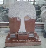 Pietra tombale nera/rossa/grigia del granito nello stile europeo