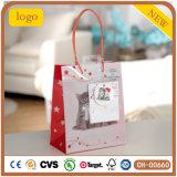 Weihnachtsreizender grauer Kätzchenpatten-Papierbeutel, Geschenk-Papierbeutel