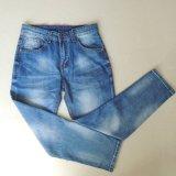 Calças de brim novas da alta qualidade da forma com tecla alaranjada e o bolso especial do V-Shape para a senhora (HDLJ0003-17)