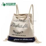 Estilo moderno reciclado Promoção orgânicos naturais Saco mochila de lona de algodão