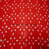 El tejido de poliéster de la piel de melocotón con la moda de corte láser para prendas de vestir